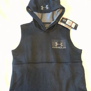 NWT Boys Under Armour SLEEVELESS HOODIE Youth XS
